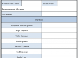 Church Income And Expense Statement Template And Daily Income And Expense Report Template
