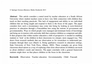 Examples Of Teacher Observation Report And Students Observation Report