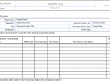 quality control excel spreadsheet sample